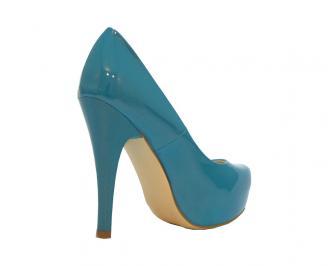 Дамски елегантни обувки еко кожа/лак сини VRWV-11910