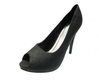 Дамски елегантни обувки еко кожа черни XYNY-12036