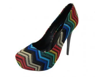 Дамски елегантни обувки текстил шарени ZSWB-12145