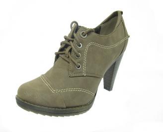 Дамски елегантни обувки еко кожа сиви VEGK-12163