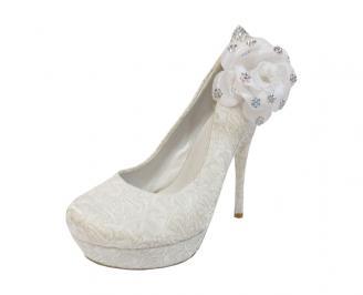 Дамски елегантни обувки еко кожа бели ATHC-12205