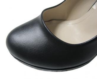 Дамски елегантни обувки еко кожа черни EOHP-16037