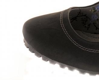 Дамски елегантни обувки еко кожа черни SEWC-16219