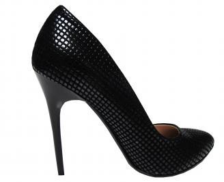 Дамски елегантни обувки еко кожа черни WRRG-17106
