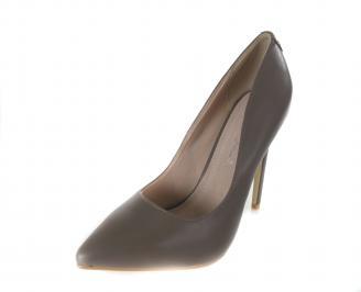 Дамски  елегантни обувки еко кожа бежови MUGK-17392