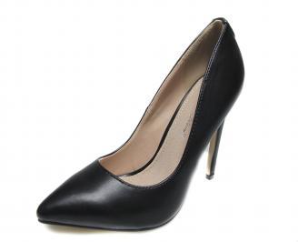 Дамски  елегантни обувки еко кожа черни ZGHF-17394
