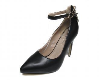 Дамски елегантни  обувки еко кожа черни VZTW-17395