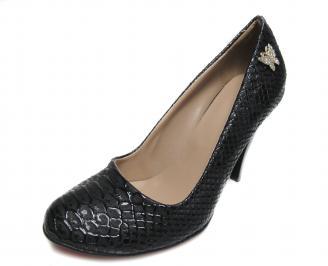 Дамски елегантни обувки еко кожа черни GRJZ-17510