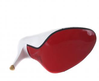 Дамски елегантни обувки еко кожа/лак бели YYJX-17547