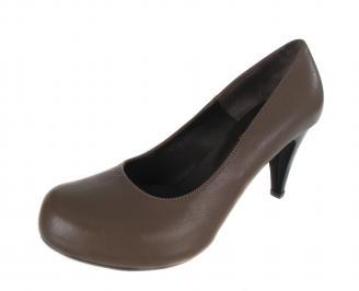 Дамски елегантни обувки естествена кожа кафяви LIAN-17643
