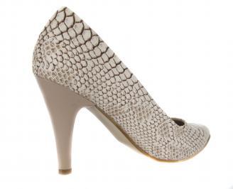Дамски елегантни обувки еко кожа бежови TQIM-17756