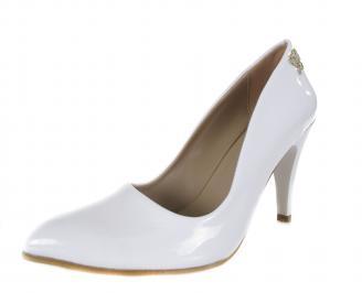 Дамски елегантни обувки еко кожа бели OOQY-17758