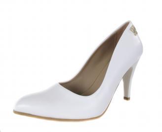 Дамски елегантни обувки еко кожа бели CVDV-17759