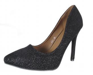 Дамски елегантни обувки еко кожа черни ZQOG-18191