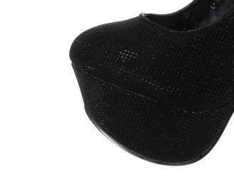 Дамски елегантни обувки еко кожа черни KBYU-18209