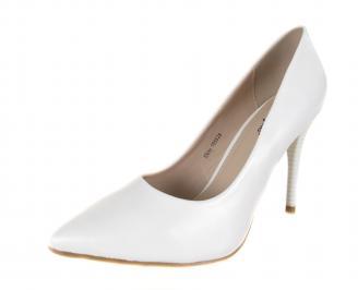 Дамски елегантни обувки еко кожа бели ZPKM-18280