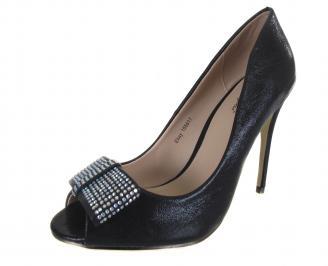 Дамски елегантни обувки текстил черни ZLXV-18281