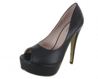 Дамски елегантни обувки еко кожа черни AOIW-18282