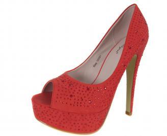 Дамски елегантни обувки еко кожа/набук червени RXPV-18283