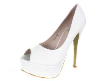 Дамски елегантни обувки еко кожа бели ITSF-18292