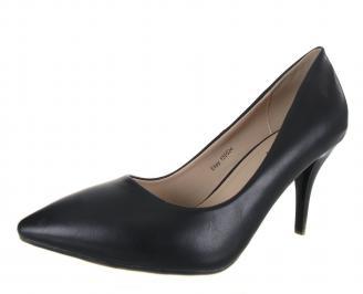 Дамски елегантни обувки еко кожа черни NVBU-18301