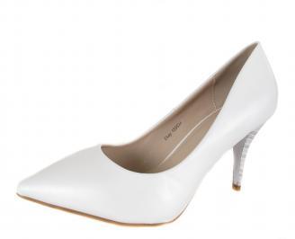 Дамски елегантни обувки текстил бели ANMZ-18302