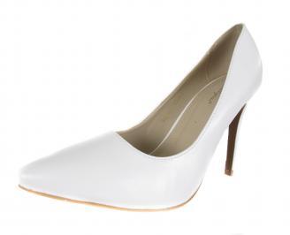 Дамски елегантни обувки еко кожа бели MCPR-18307