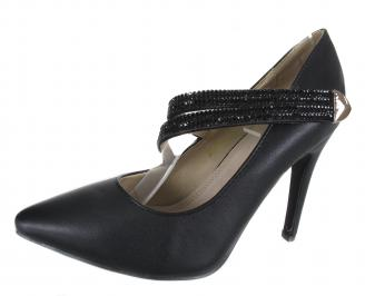 Дамски елегантни обувки еко кожа черни LVGN-18308