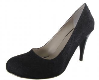 Дамски елегантни обувки черни дантела SHFF-19110