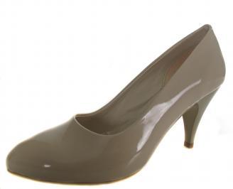Дамски елегантни обувки бежови еко кожа/лак RYOU-19127
