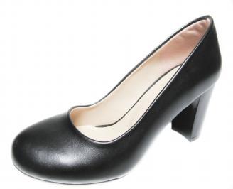 Дамски елегантни обувки на ток еко кожа черни MWVC-19897