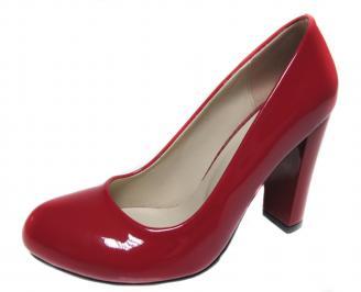 Дамски елегантни обувки на ток еко кожа/лак червени WCNU-19976