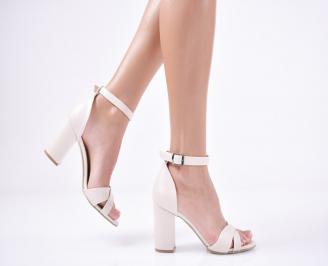 Дамски елегантни сандали еко кожа бежови YPUZ-1011263