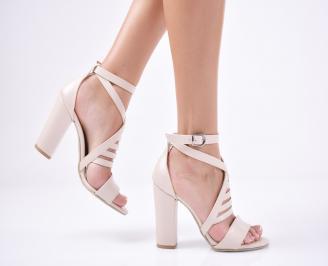 Дамски елегантни сандали еко кожа пудра KBIW-1011282