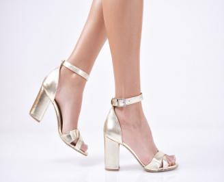 Дамски  елегантни сандали еко кожа  златисти XVUG-1011292
