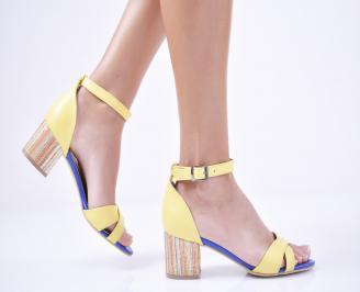 Дамски  елегантни сандали еко кожа жълти FOIZ-1011295