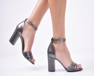 Дамски  елегантни сандали еко кожа черни VBLU-1011305