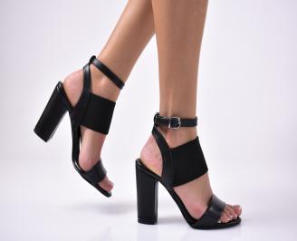 Дамски елегантни сандали  еко кожа черни TJIH-1011381