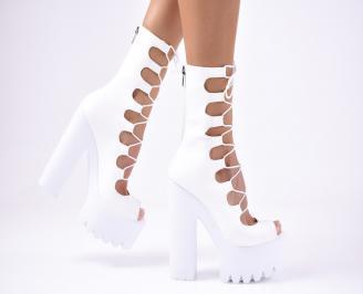 Дамски  елегантни сандали еко кожа  бели LFKF-1012235