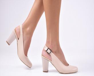 Дамски елегантни сандали еко кожа бежови QOAO-1012249