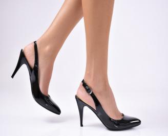 Дамски елегантни сандали еко кожа/лак черни YJOO-1012252