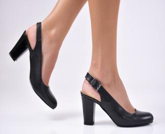 Дамски елегантни сандали еко кожа черни GQOD-1012254
