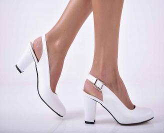 Дамски  елегантни сандали еко кожа  бели SINL-1012282