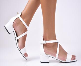 Дамски  елегантни сандали еко кожа  бели YCMC-1012477