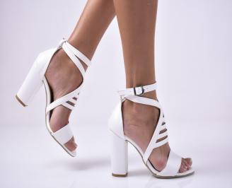 Дамски  елегантни сандали еко кожа  бели RBAO-1012479