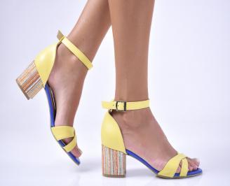Дамски  елегантни сандали еко кожа жълти BLCX-1012644