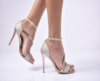 Дамски  елегантни сандали  златист RGWE-1013533