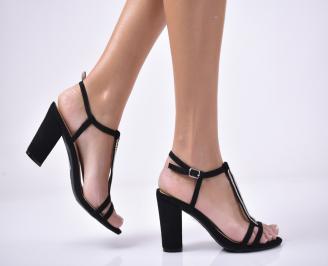 Дамски  елегантни сандали  еко кожа черни BZJA-1013534