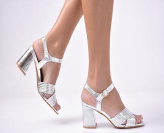 Дамски  елегантни сандали  еко кожа сребристи UWOJ-1013538