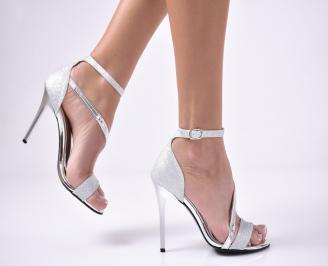 Дамски  елегантни сандали  сребристи XPCE-1013543